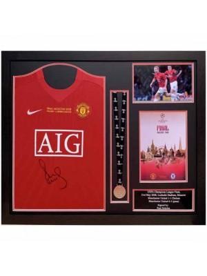 Manchester United FC Scholes Signed Shirt Medal Framed