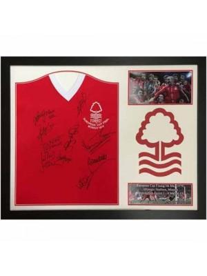 Nottingham Forest FC 1979 European Cup Final Signed Shirt (Framed)