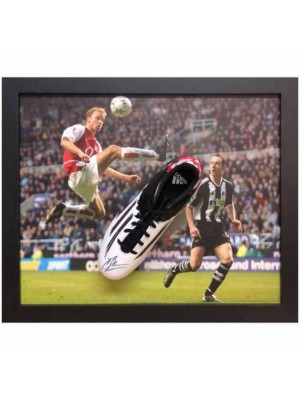Arsenal FC Bergkamp Signed Boot Framed