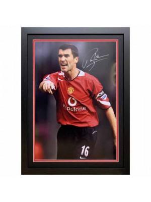 Manchester United FC Keane Signed Framed Print