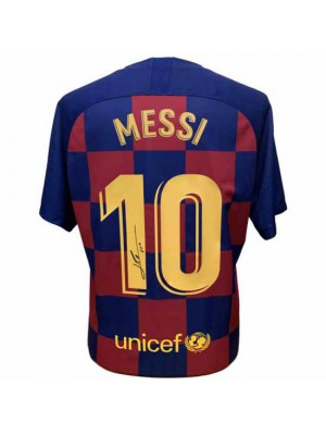 FC Barcelona Messi Signed Shirt 19-20