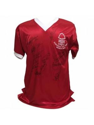 Nottingham Forest FC 1979 European Cup Final Signed Shirt