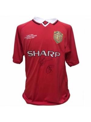 Manchester United FC Sheringham & Solskjaer Signed Shirt