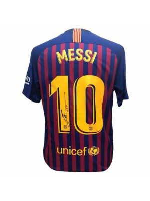 FC Barcelona Messi Signed Shirt 18-19