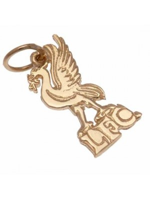 Liverpool FC 9ct Gold Pendant Liverbird Small