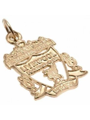 Liverpool FC 9ct Gold Pendant Crest Small