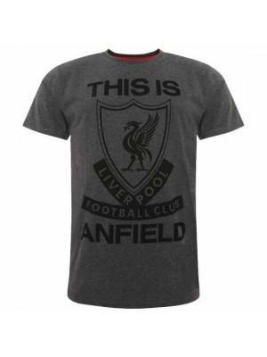 Liverpool FC TIA T Shirt Mens Charcoal M