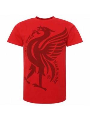 Liverpool FC Liverbird T Shirt Mens Red S