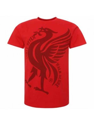Liverpool FC Liverbird T Shirt Mens Red L