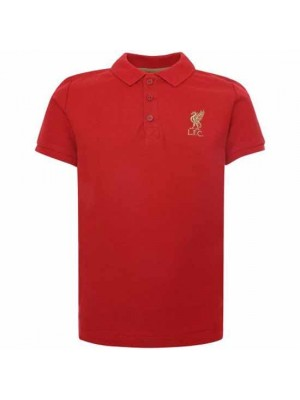 Liverpool FC Red Polo Shirt Junior Red 9/10 Years