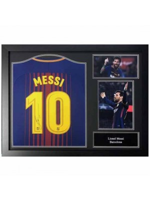 FC Barcelona Messi Signed Shirt (Framed)