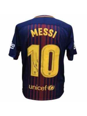 FC Barcelona Messi Signed Shirt 17-18