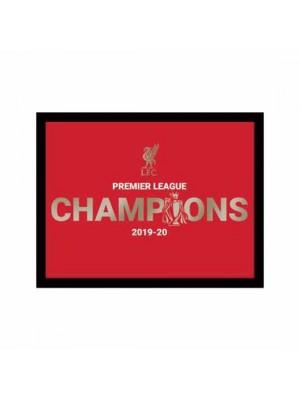 Liverpool FC Premier League Champions Metallic Picture 10 x 8