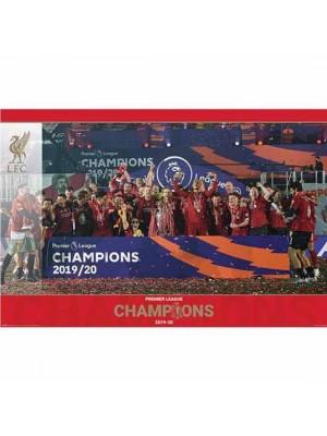 Liverpool FC Premier League Champions Poster Trophy Lift 15