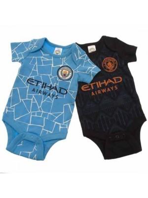 Manchester City FC 2 Pack Bodysuit 6/9 Months