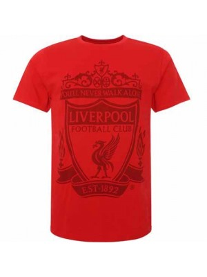 Liverpool FC Crest T Shirt Mens Red S