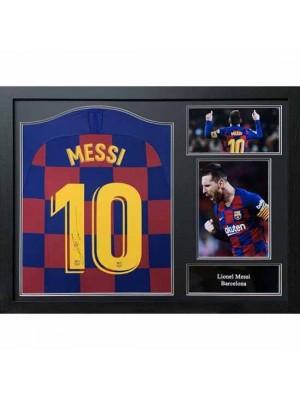 FC Barcelona Messi 2019-20 Signed Shirt (Framed)
