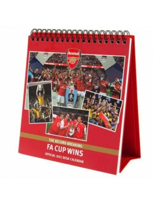 Arsenal FC Desktop Calendar 2021