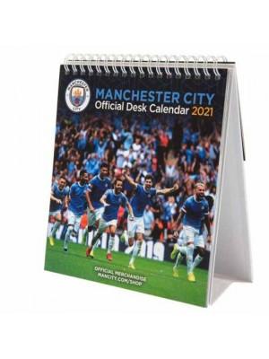 Manchester City FC Desktop Calendar 2021