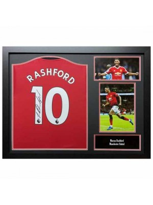 Manchester United FC Rashford Signed Shirt (Framed)