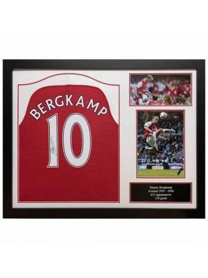 Arsenal FC Bergkamp Signed Shirt (Framed)