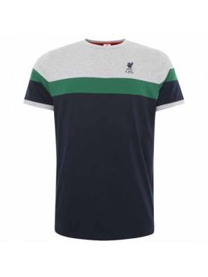 Liverpool FC Retro Panel T Shirt Mens Navy M