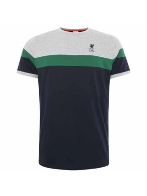 Liverpool FC Retro Panel T Shirt Mens Navy XL
