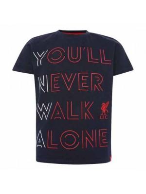 Liverpool FC YNWA T Shirt Junior Navy 11-12