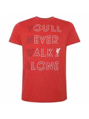 Liverpool FC YNWA T Shirt Mens Red L