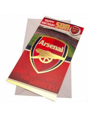 Arsenal FC Birthday Card Son