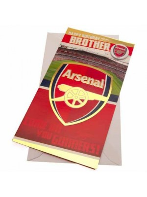 Arsenal FC Birthday Card Brother