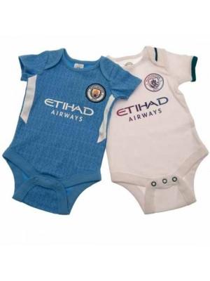 Manchester City FC 2 Pack Bodysuit 0/3 Months SQ