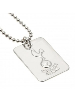 Tottenham Hotspur FC Silver Plated Dog Tag & Chain