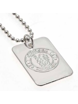 Chelsea FC Silver Plated Dog Tag & Chain
