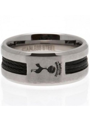 Tottenham Hotspur FC Black Inlay Ring Medium