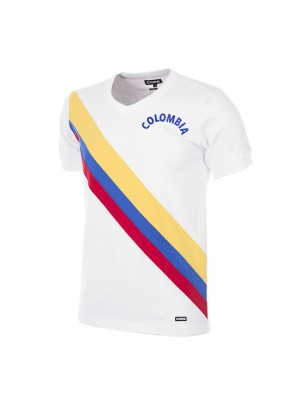 Colombia 1973 Short Sleeve Retro Football Shirt