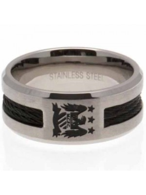 Manchester City FC Black Inlay Ring Large EC