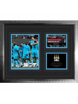 Manchester City FC Historic Moments Picture 6-1 Derby 16x20