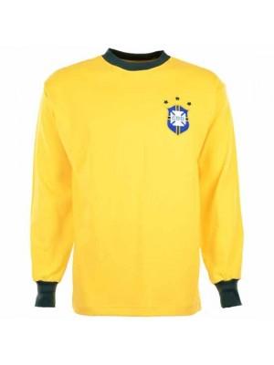 Brazil 1972 Three Times Champions Retro Football Shirt