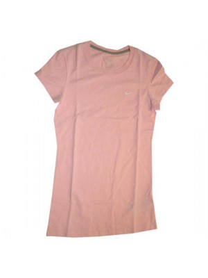 crew neck solid tee - womens - pink