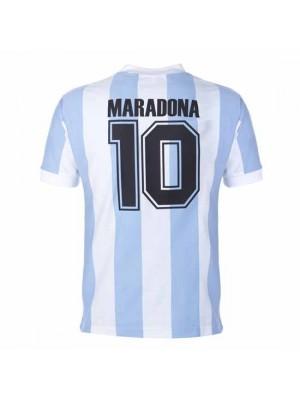 Argentina 1986 World Cup Maradona 10 Retro Football Shirt