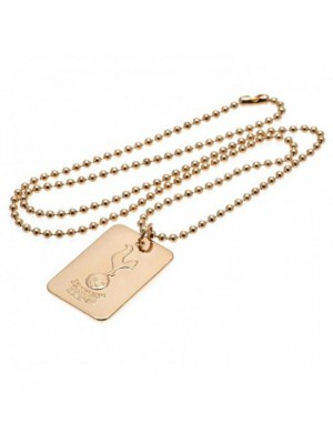 Tottenham Hotspur FC Gold Plated Dog Tag & Chain