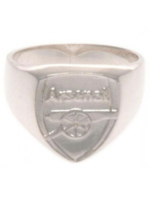 Arsenal FC Sterling Silver Ring Small