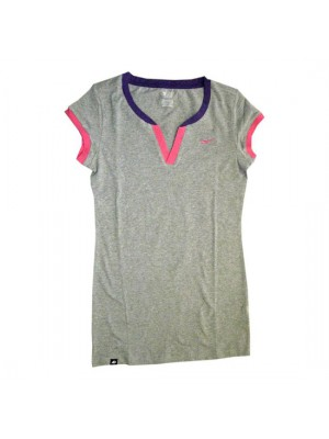 v-neck open tee - womens