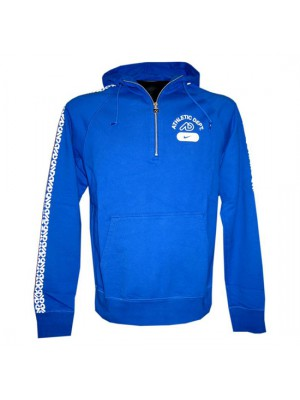 hoody full zipper - mens - blue