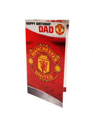 Manchester United FC Birthday Card Dad