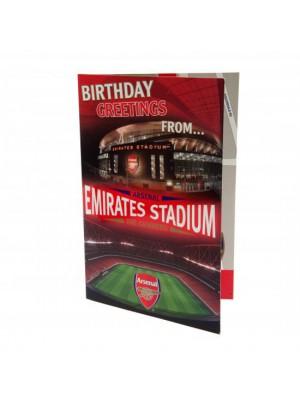 Arsenal Fc Pop Up Birthday Card