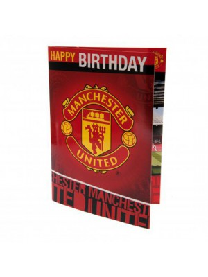Manchester United FC Musical Birthday Card