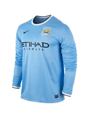 Manchester City home jersey long sleeve 2013/14