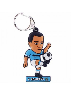Manchester City FC PVC Keyring Kompany